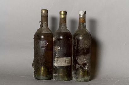 3 bouteilles CH. D'YQUEM, 1° cru supérieur...