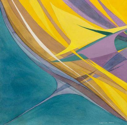 Hajime KATO (1925-2000)  Composition  Aquarelle...
