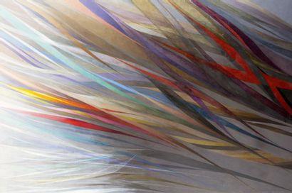 Hajime KATO (1925-2000)  Le vent, 1999  Huile...