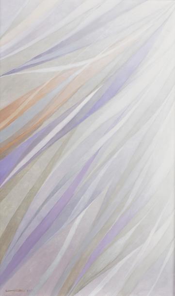 Hajime KATO (1925-2000)  Zéphir, 1998  Huile sur toile signée en bas à gauche, contresignée...