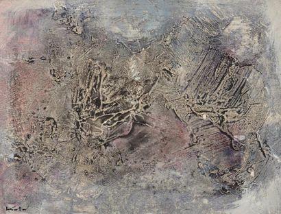 Hajime KATO (1925-2000)  Sans titre  Huile sur toile signée en bas à gauche  14...