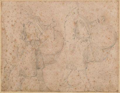Ecole flamande du XVIIème siècle  Deux études...