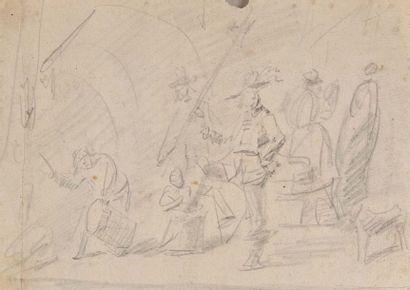 Entourage de David TENIERS (Anvers 1610 -...