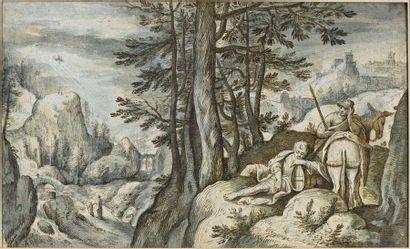 Ecole de Tobias VERHAECHT (Anvers 1561-1631)...