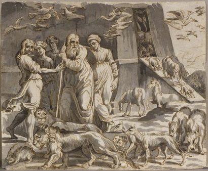 Ecole française du XVIIème siècle  L'arche...