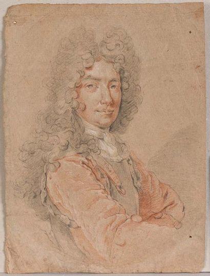 Ecole française vers 1700  Portrait d'homme...