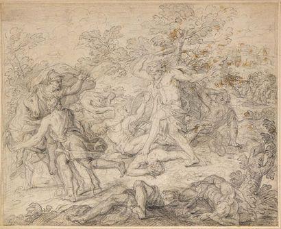 Ecole française vers 1700  Samson combattant...