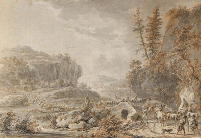 Dyrck LANGENDYCK (Rotterdam 1748 - 1805)  Une paire : engagement militaire et convoi...