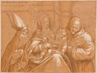 Ecole vénitienne du XVIIème siècle  Vierge...
