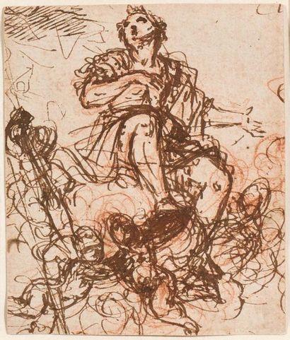 Attribué à Guiseppe PASSERI (Rome 1654 -...
