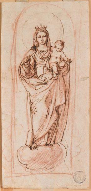 Ecole italienne du XVIIème siècle  Vierge...