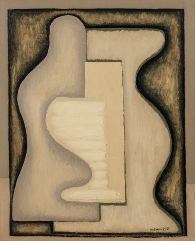 Serge CHARCHOUNE (Bougourrouslan 1888- Villeneuve Saint Georges 1975) Nature Morte,...