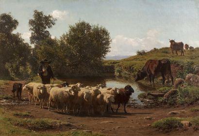 Auguste BONHEUR (Bordeaux 1824 - Bellevue...