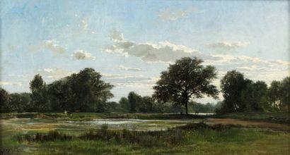 Auguste ALLONGE (1833 - 1898) Bord de Seine...