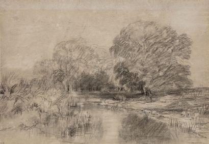 Théodore ROUSSEAU (Paris 1812- Barbizon 1867)...