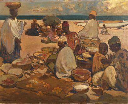 Louis Ferdinand ANTONI (1872-1940) Marché...
