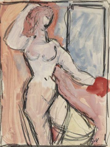 Geer Van VELDE (1898-1977) Nu de femme Gouache...