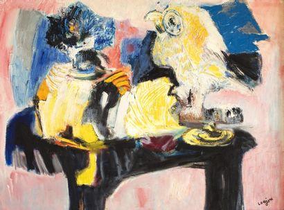 Bernard LORJOU (Blois 1908-1986) Composition...