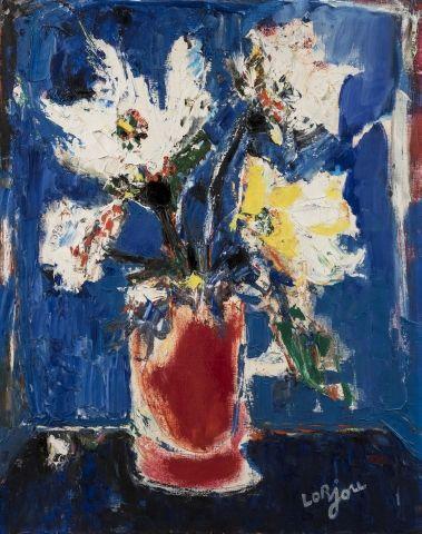 Bernard LORJOU (Blois 1908-1986) Bouquet...