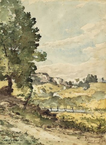 Henri Joseph HARPIGNIES (Valenciennes 1819...