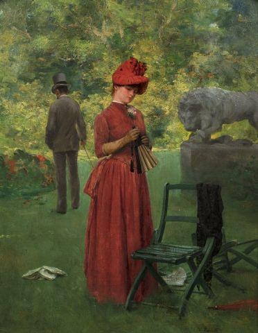 Victor LECOMTE (Paris 1856 - 1920) Elégante...