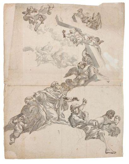Ecole italienne du XVIIème siècle Saint Pierre...