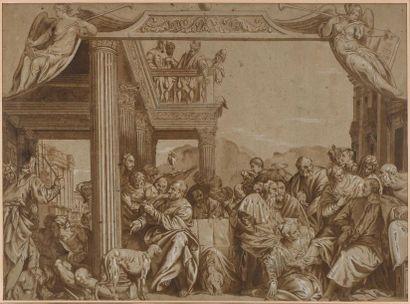 Ecole italienne du XVIIème siècle Le Festin...