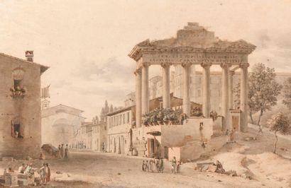 Victor-Jean NICOLLE (Paris 1754-1826) Vue...