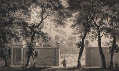 Ecole néoclassique Vue de la terrasse, du...