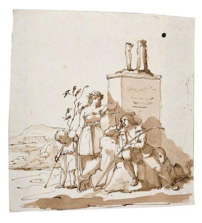 Attribué à Bartolomeo PINELLI (Rome 1781...