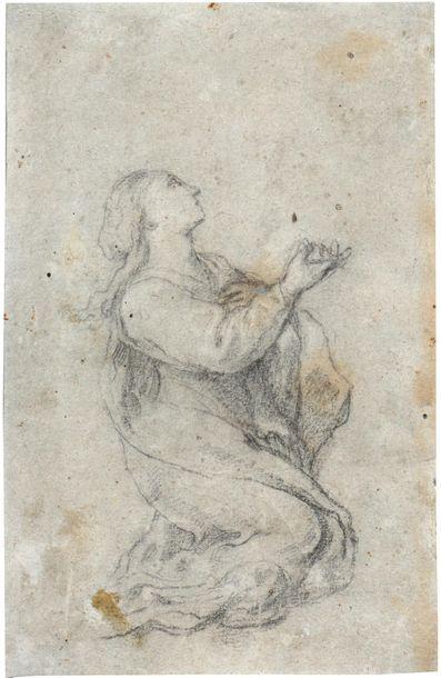 Ecole italienne du XVIIème siècle Femme implorant...