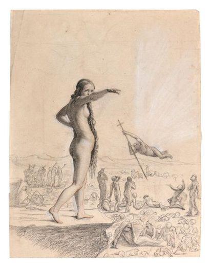 Ecole lyonnaise du XIXème siècle La résurrection...