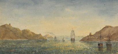 E. COLLOMB (actif au XIXème siècle) Vue de...