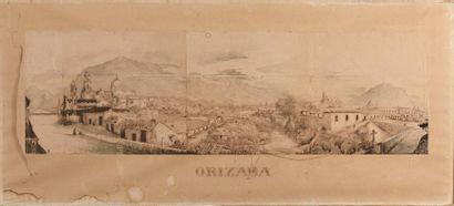 Ecole mexicaine du XIXème siècle Vue d'Orizaba...