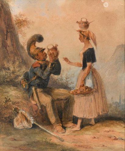 Hippolyte BELLANGE (Paris 1800 - 1866) Jeune...