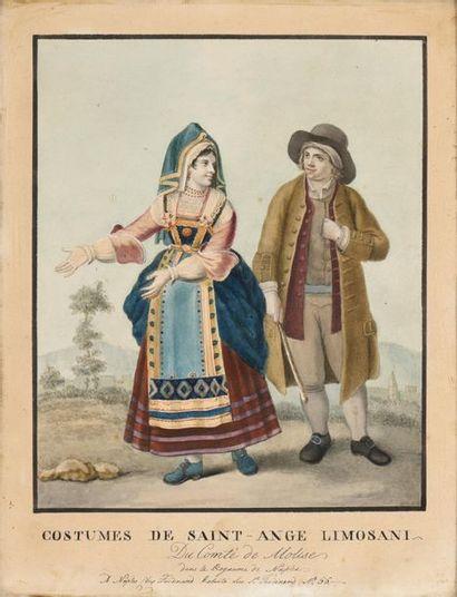 Ecole française du XIXème siècle Couple napolitain...