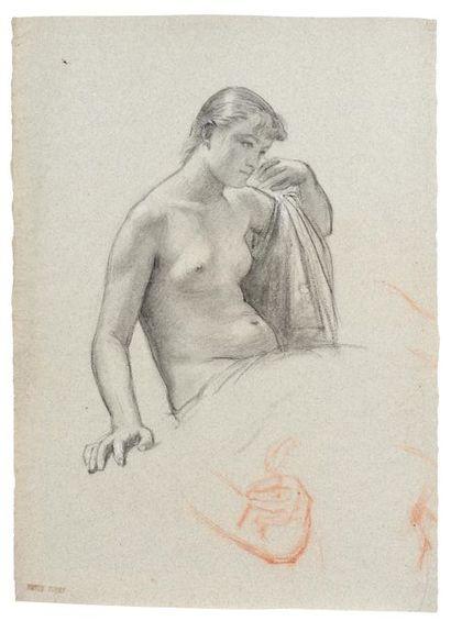 Jean SCOHY (Lyon 1824 - 1896) Femme assise...