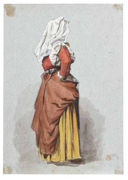 Auguste ANASTASI (Paris 1820 - 1889) Italienne...