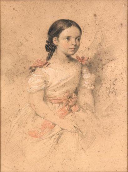 Attribué à Eugène DEVERIA (Paris 1805 - Pau...