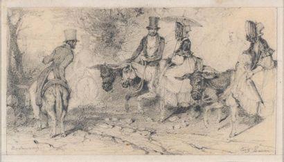 Attribué à Eugène Louis LAMI (Paris 1800-1890)...