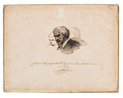 Léon COGNIET (Paris 1794 - 1880) Trois études...
