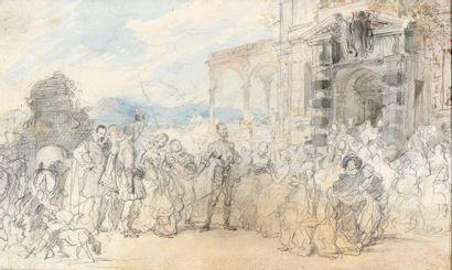 Eugène Louis LAMI (Paris 1800-1890) Don Quichotte...