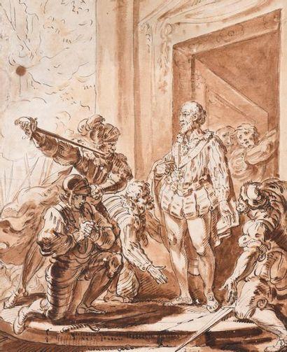 Louis BINET(1744-1800) L'assassinat du Maréchal...