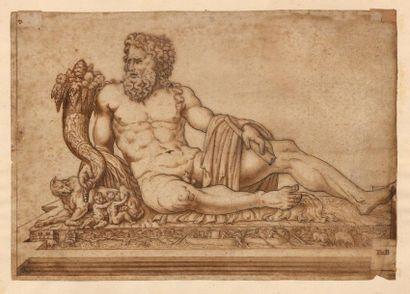 Ecole italienne du XVIème siècle Etude d'après...