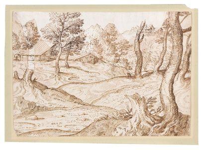 Ecole hollandaise du XVIIème siècle Paysage...