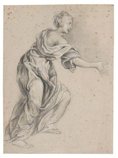 Ecole flamande du XVIIème siècle Figure féminine...