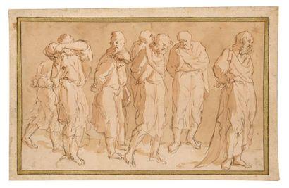 Ecole flamande du XVIIème siècle Groupe de...
