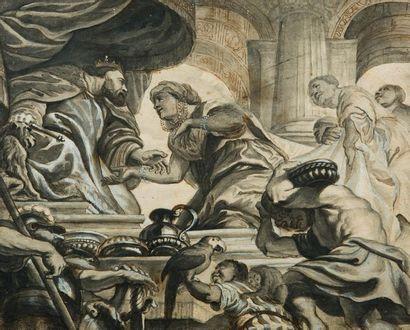 Ecole flamande du XVIIème siècle Salomon...