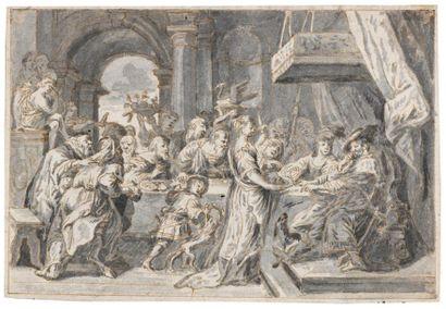 Ecole du Nord du XVIIème siècle Salomé présentant...