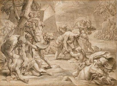 Attribué à Nicolas CHAPERON (1612-1656) Scène...